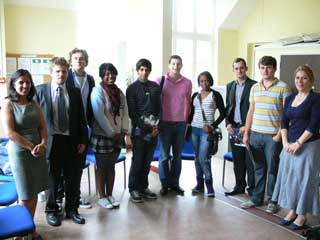 Trinity Staff with HSBC interns
